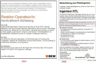Ing Inserat 400x261 AKW Personal: Wissen und Erfahrung sinkt = AKW Risiko steigt!