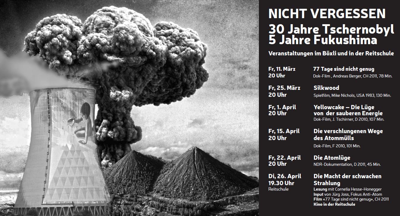 Veranstaltungsreihe zum Tschernobyl Jahrestag in Bern