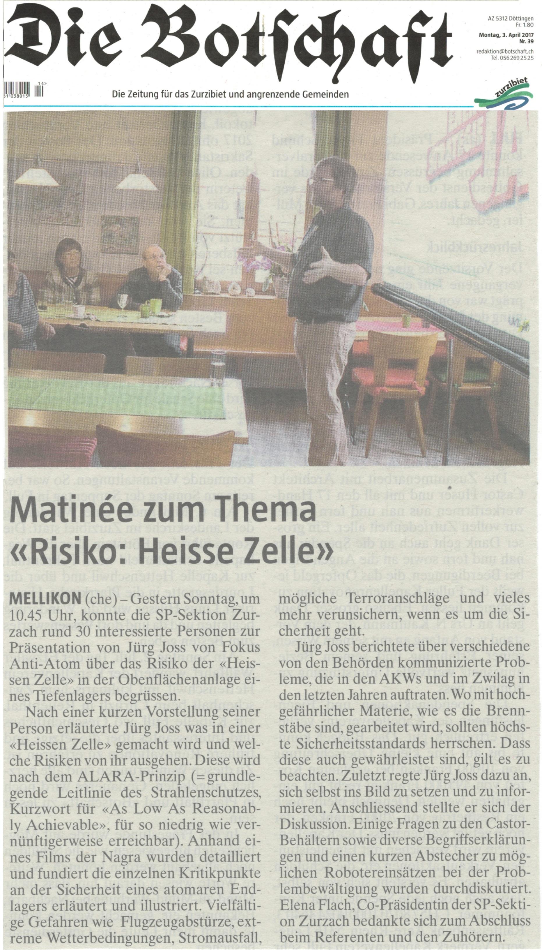 2017 04 02 MellikonEndlager Mellikon 2017 04 02: Heisse Zelle